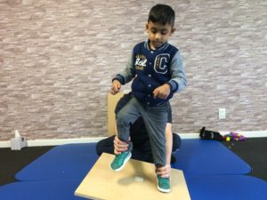 Child at CME therapy